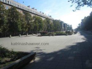 Nowa Huta main street watermark