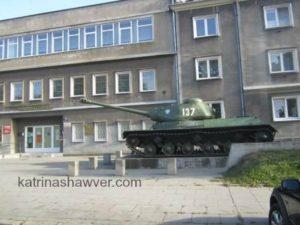 Soviet Tank in Nowa Huta Poland