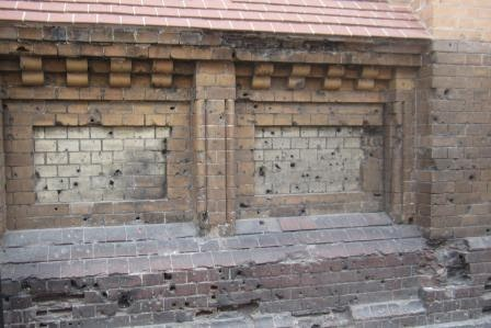 Wall in Warsaw where firing squads took place