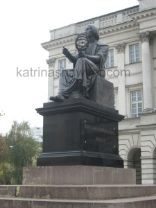 Copernicus statue warsaw watermark