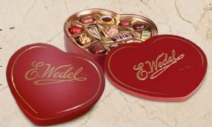 E. Wedel double heart tins