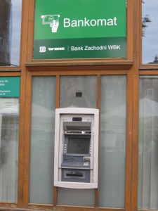Photo of ATM in the Polish language