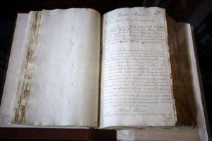 Photo of hand-written Polish constitution 1791