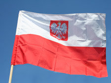 Polish Flag with Eagle