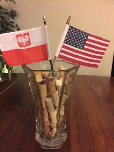 Polish and American Flags