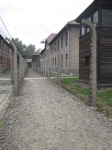 electric fence in Auschwitz