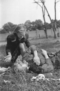 Polish victim German WWII bombing